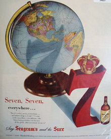 Seagrams Seven Blended Whiskey 1951 Ad