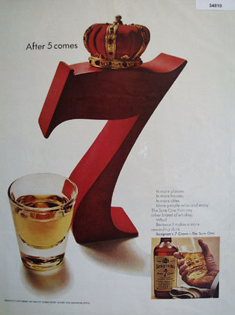 Seagrams 7 Crown Whiskey 1967 Ad
