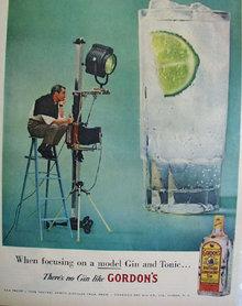 Gordons Distilled Dry Gin 1957 Ad