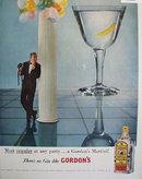 Gordons Gin Martini 1957 Ad