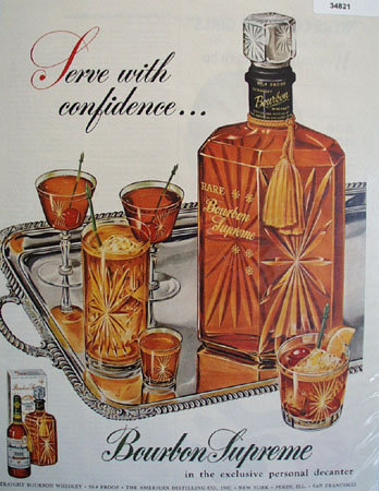 Bourbon Supreme Personal decanter 1959 Ad