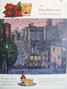 Four Roses San Francisco 1955 Ad.