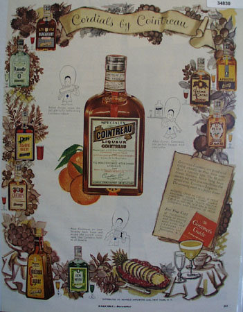 Cointreau Liqueur Specialty 1951 Ad