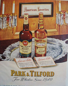 Park And Tilford Fine Whiskies 1949 Ad