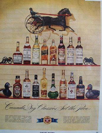Canada Dry Classics 1951 Ad