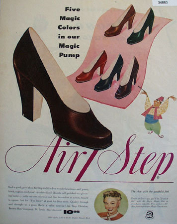 Air Step Magic Pump Shoes 1950 Ad