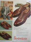 Bostonian Shoes Pedigreed Grains 1952 Ad