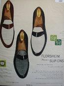 Florsheim Summer Slip-Ons 1957 Ad.