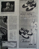Fortune Shoes for Men 1951 Ad