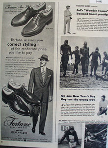 Fortune Shoes Correct Styling 1951 Ad