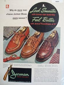 Jarman Shoes for Men 1947 Ad
