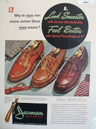 Jarman Shoes for Men 1947 Ad