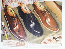 Jarman Shoes Portraits In Leather 1956 Ad