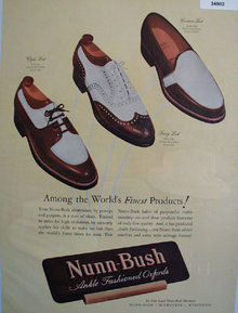 Nunn Bush Ankle Fashioned Oxfords 1947 Ad