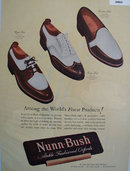 Nunn Bush Ankle Fashioned Oxfords 1947 Ad