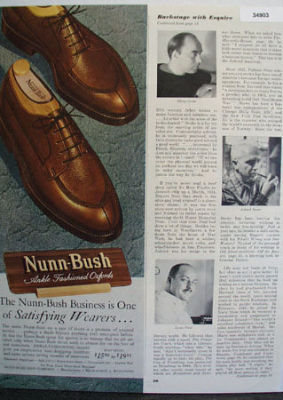 Nunn Bush Satisfying Wearers 1949 Ad