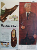 Porto-Ped Air Cushion Shoes 1956 Ad