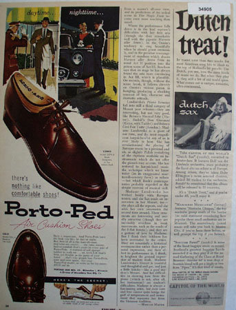 Porto-Ped Shoes 1957 Ad