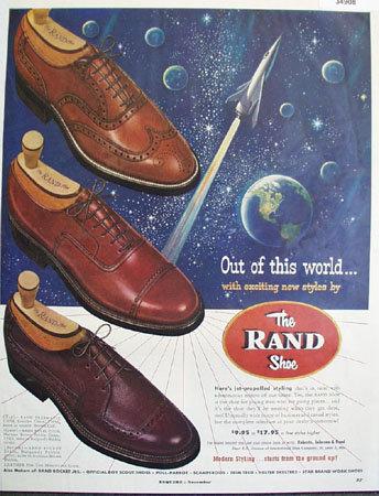 Rand Shoe Modern Styling 1953 Ad