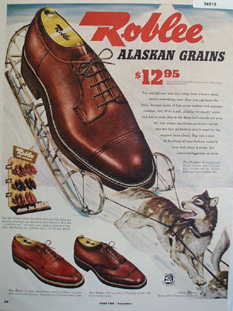 Roblee Shoes Alaskan Grains 1952 Ad