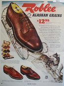 Roblee Shoes Alaskan Grains 1952 Ad