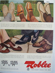 Roblee The Right Shoes For Men 1953 Ad