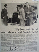 Buick Eight Car Billy Jones 1930 AD
