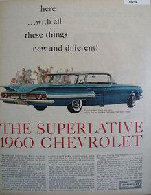 1960 Impala Sport Sedan 1959 Ad