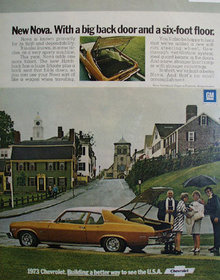 Chevrolet Nova Hatchback Coupe 1972 Ad