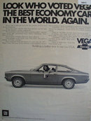 Chevrolet Vega Best Economy Car 1972 Ad