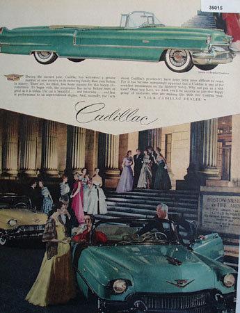 Cadillac at Boston Museum of Fine Arts 1956 Ad