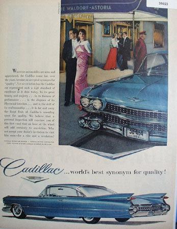 Cadillac Motor Car Division GM Corp. 1959 Ad