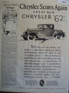 Chrysler Scores Again 1927 Ad