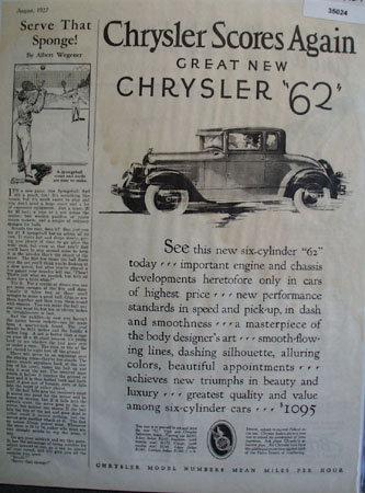 Chrysler Scores Again 1927 Ad