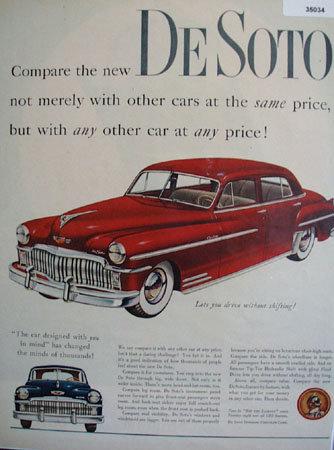 De Soto Chrysler Corp. Car 1949 Ad