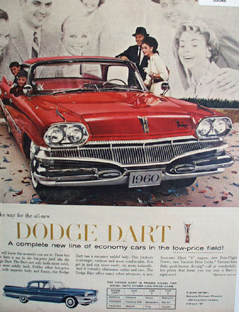 Dodge Dart Economy Car 1959 Ad