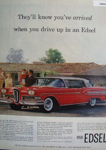 Edsel Citation Hardtop Car 1958 Ad