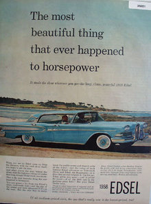 Edsel Steals the Show 1958 Ad