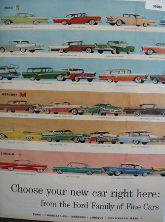 Ford Family Of Fine Cars 1957 Ad