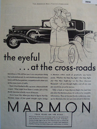 Marmon Eight Car 1930 Ad