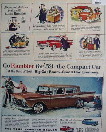 Rambler American Car 1958 Ad