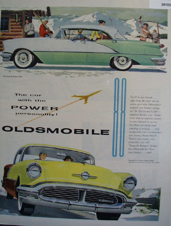 Oldsmobile Super 88 Holiday Sedan 1956 Ad