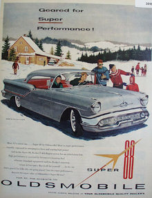 Oldsmobile Super 88 Holiday Coupe 1957 Ad
