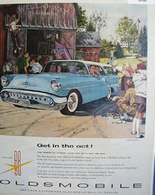 Oldsmobile Super 88 Fiesta 1957 Ad