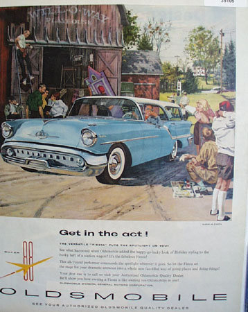Oldsmobile Super 88 Fiesta 1957 Ad