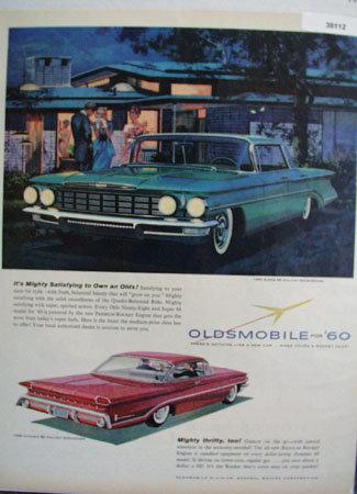 60 Oldsmobile Holiday Sport Sedan 1959 Ad