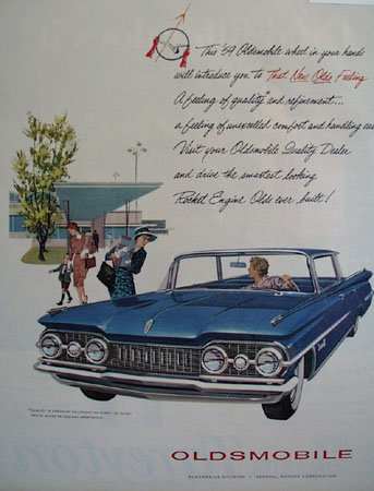 Oldsmobile General Motors 1959 Ad