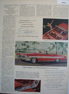 Oldsmobile Starfire Car 1961 Ad