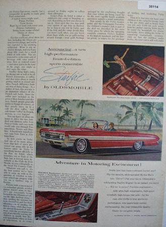 Oldsmobile Starfire Car 1961 Ad