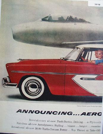 Plymouth Belvedere 4 door Hardtop Sport Sedan. 1955 Ad.